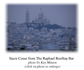 Sacre Coeur from The Raphael Rooftop Bar